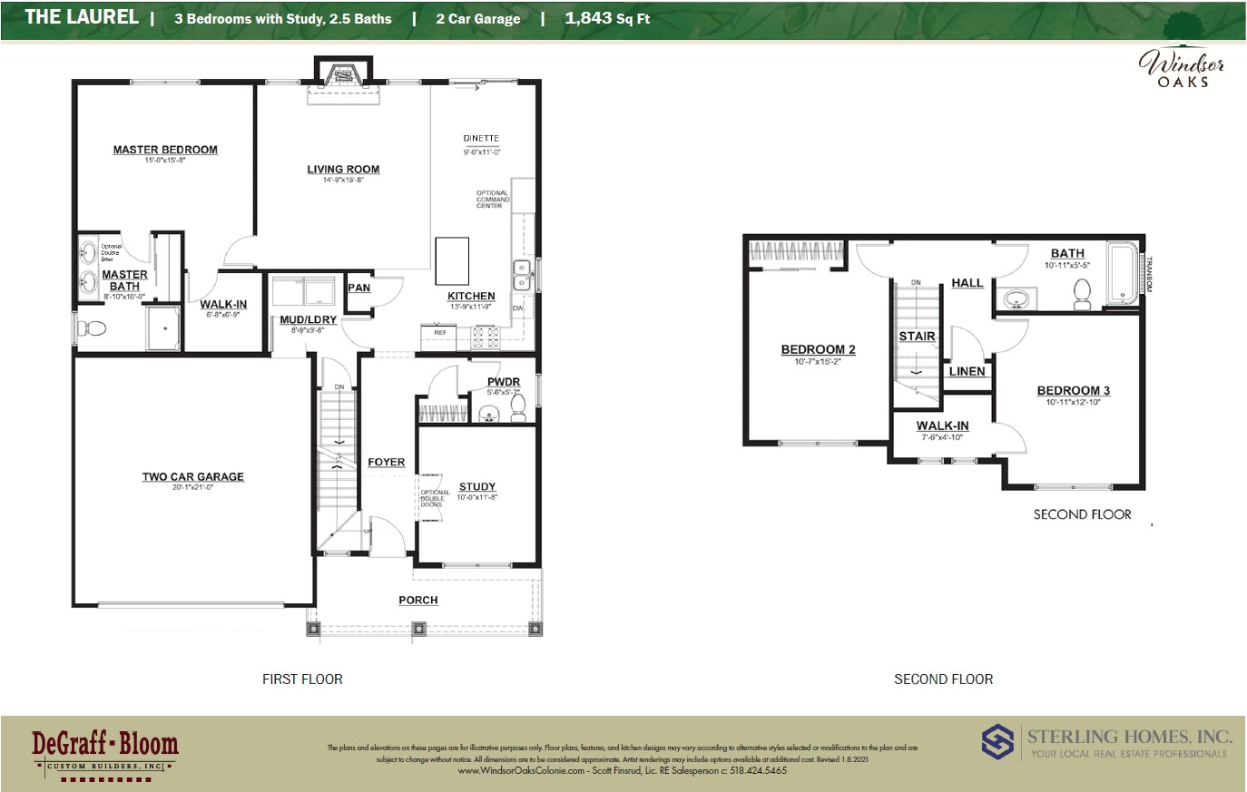 The Laurel Colonial Floor plan
